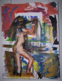 Figural, Acrylmalerei, Asse, Aquarellmalerei