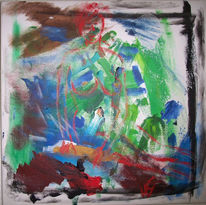 Remlingen, Akt, Acrylmalerei, Sitzen