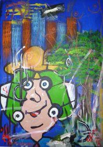 Pop art, Asse, Finanzkrise, Mischtechnik