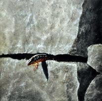 Acrylmalerei, Malerei, Echse, Figural
