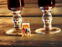 Strandkorb, Miniaturfiguren, Fotografie, Leben