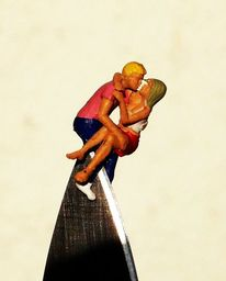 Miniaturfiguren, Fotografie, Leben, Wirklichen