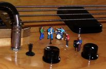 Miniaturfiguren, Bass, Fotografie, Wirklichen