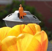 Frühling, Miniaturfiguren, Frühlingsgefühle, Fotografie