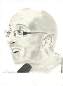 Bleistiftzeichnung, Mann, Kohlezeichnung, Portrait