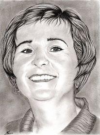 Bleistiftzeichnung, Zeichenstift nero fetthalig, Portrait, Zeichnungen