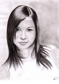 Portrait, Bleistiftzeichnung, Kohlezeichnung, Zeichnungen