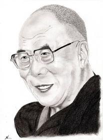 Portrait, Lama, Kohlezeichnung, Zeichenstift