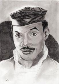 Kohlezeichnung, Portrait, Murphy, Zeichnungen