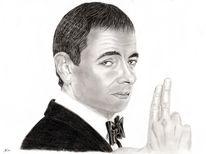 Rowan atkinson, Portrait, Englisch, Bleistiftzeichnung