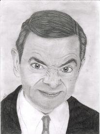 Bohne, Portrait, Eberesche, Bleistiftzeichnung