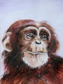 Malerei, Affe
