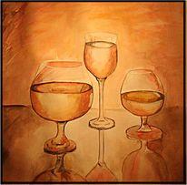 Malerei, Abstrakt, Glas