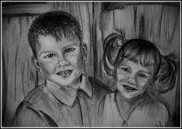 Kinder, Portrait, Zeichnungen