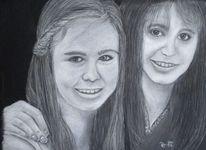 Portrait, Kinder, Pastellmalerei, Teens
