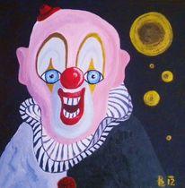 Wahnsinn, Gold, Acrylmalerei, Clown