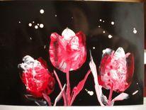 Blumen tulpen encaustic, Malerei, Tulpen