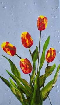 Tulpen, Natur, Blumen, Frühling