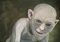 Gollum, Pastellmalerei, Böse, Malerei