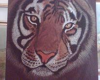 Pastellmalerei, Tiere, Katze, Tiger