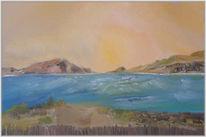 Meer, Landschaft, Malerei, Küste