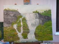 Wasserfall, Malerei
