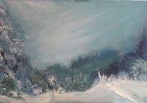Winterlandschaft, Malerei