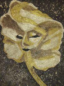 Maske, Fresko, Venedig, Acrylmalerei