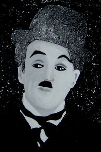 Chaplin, Pop art, Portrait, Malerei