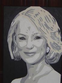 Popart, Helen mirren, Acrylmalerei, Queen