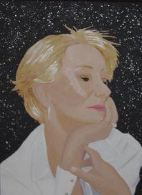 Oscarpreisträgerin, Acrylfarben, Schauspieler, Malerei