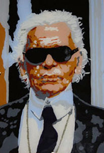 Karl lagerfeld, Malerei, Portrait, Pop art