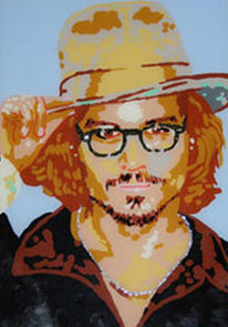 Pop art, Malerei, Portrait, Johnny depp