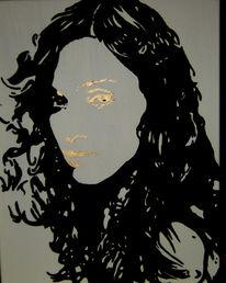 Acrylmalerei, Sängerin, Madonna, Stern