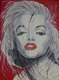 Popart, Acrylmalerei, Marilyn monroe, Popvamp
