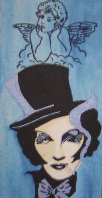 Malerei, Blau, Acrylmalerei, Illustration
