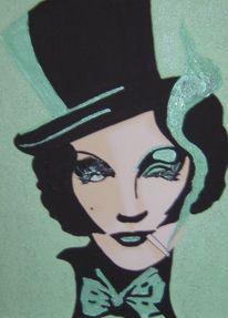 Grün, Illustration, Malerei, Acrylmalerei
