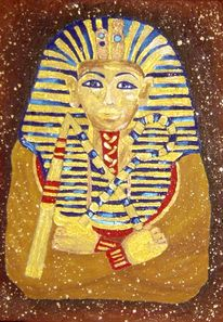 Pharao, Malerei, Fresko, Acrylmalerei