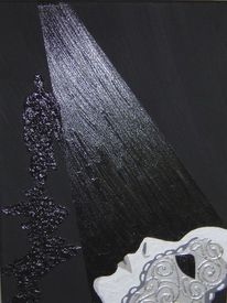 Acrylmalerei, Malerei, Venedig, Maske