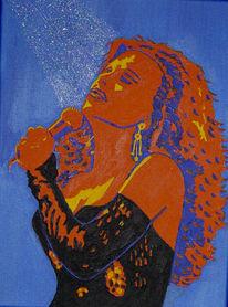 Musik, Popart, Acrylmalerei, Portrait