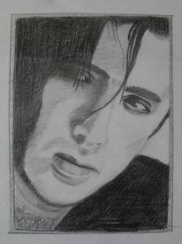 Nicolas cage, Portrait, Bleistiftzeichnung, Zeichnung