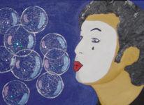 Malerei, Seifenblasen, Pantomime, Acrylmalerei