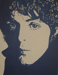 Pop art, Portrait, Cartney, Acrylmalerei