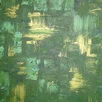 Abstrakt, Grün, Acrylmalerei, Malerei