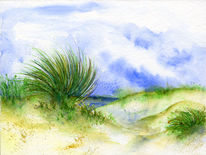 Sommer, Strand, Dünen, Urlaub