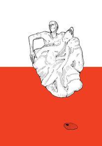 Modern, Symbolismus, Zeichnung, Zeichnungen