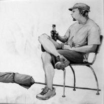 Malerei, Acrylmalerei, Schwarzweiß, Modern