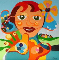 Naiv, Acrylmalerei, Expressionismus, Farben