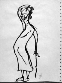 Endlospapier, Tuschmalerei, Zeichnung, Zeichnungen