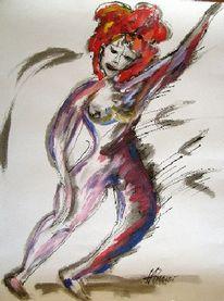 Zeichnung, Tusche, Malerei, Figur